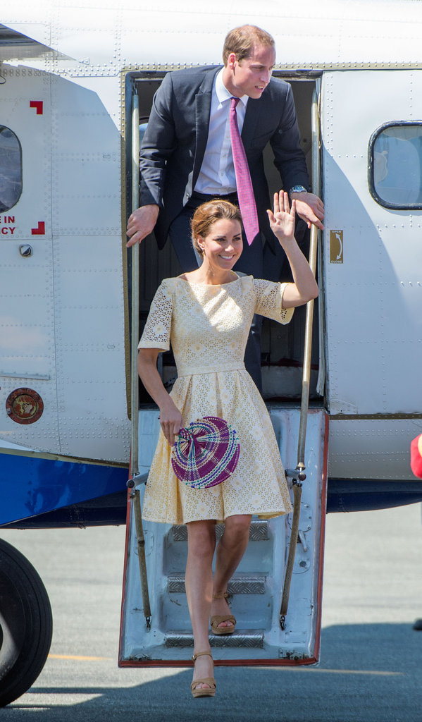 Prince William and Kate Middleton arrived in the Solomon Islands in September 2012.