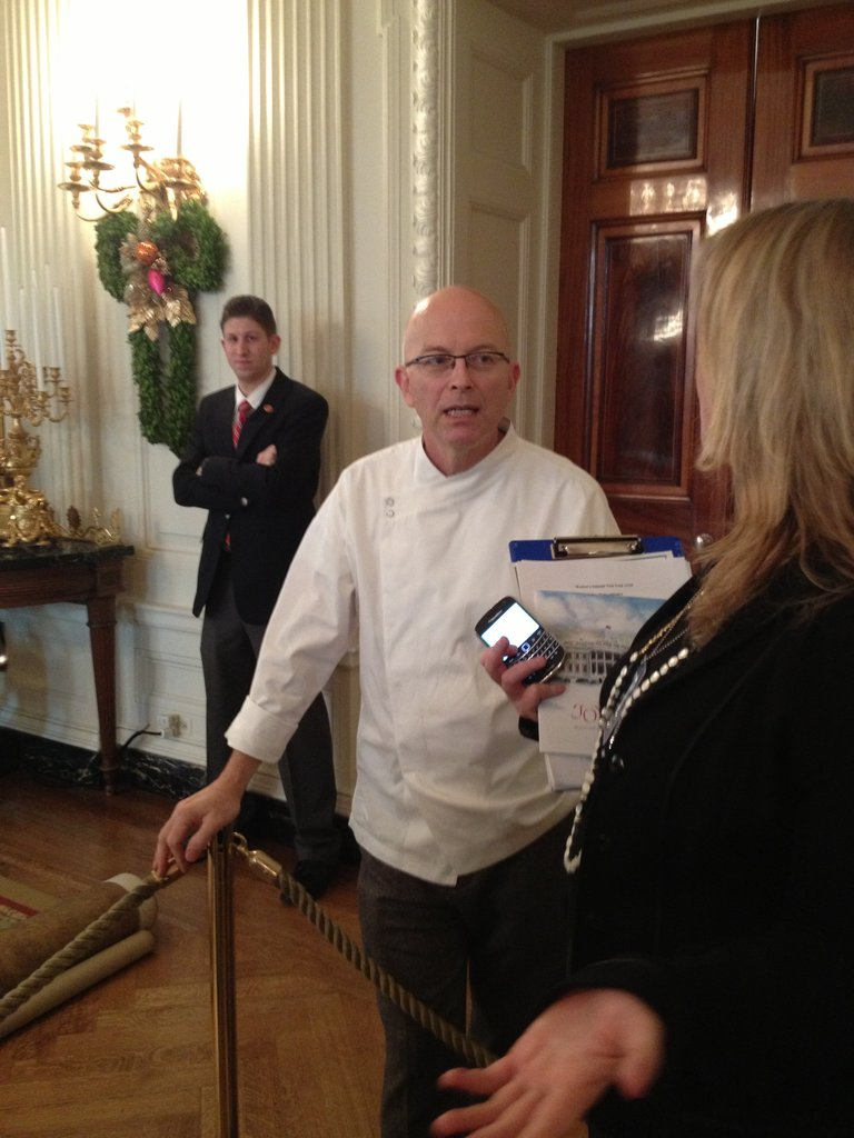 White House pastry chef Bill Yosses was in the State Dining Room to chat about his holiday replica of the White House.