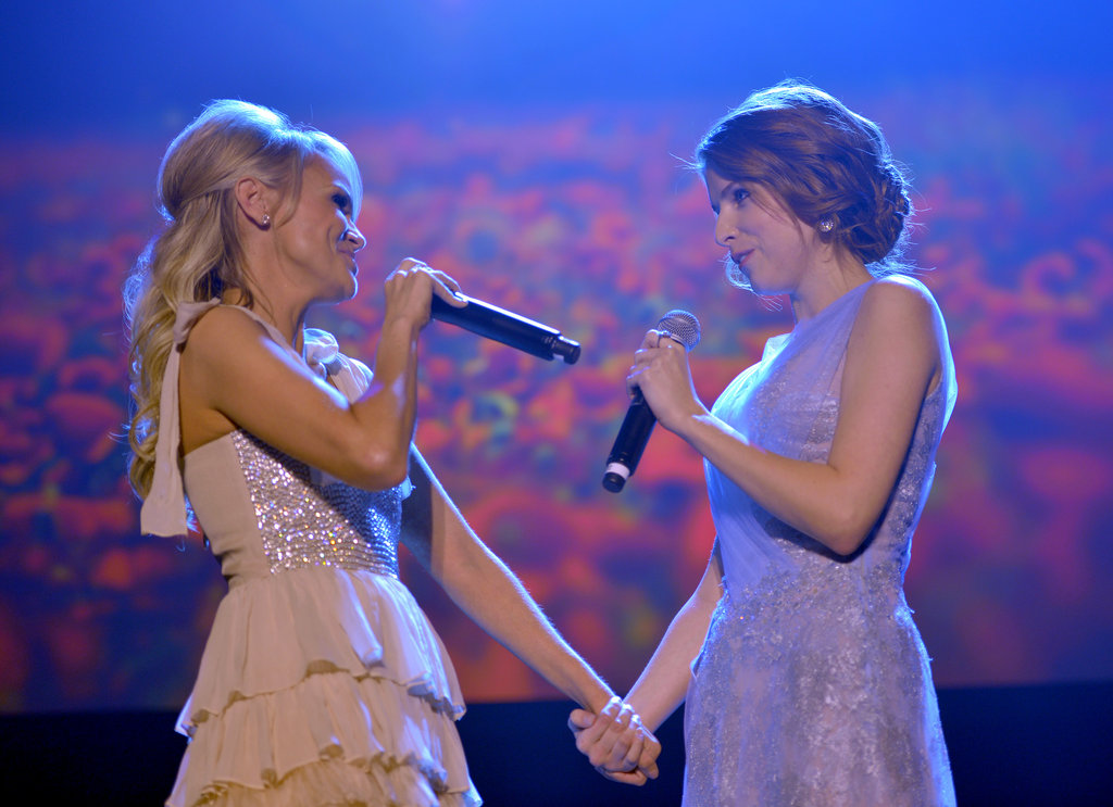 Kristin Chenoweth and Anna Kendrick performed on stage at the LA benefit.