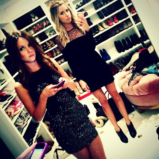 Ashley Tisdale took photos in her closet. Source: Instagram user ashleytis