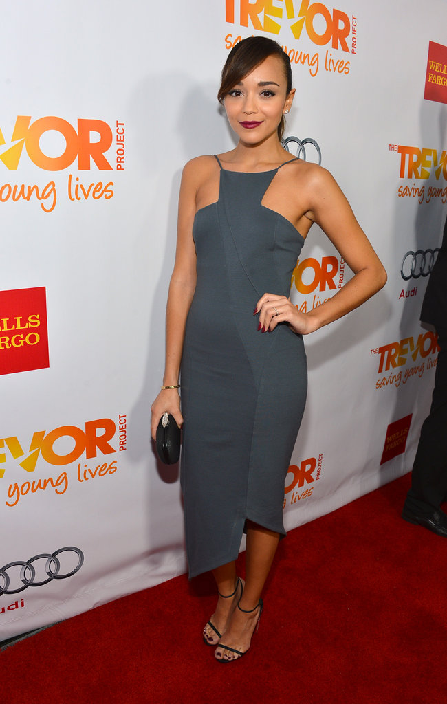 Sleek and chic are the two words that come to mind when we look at Ashley Madekwe's cool Kimberly Ovitz number.