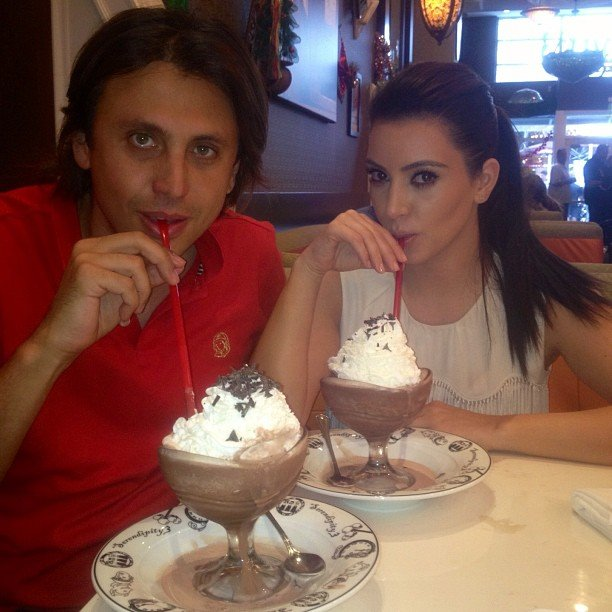 Kim Kardashian enjoyed a frozen hot chocolate. Source: Instagram user kimkardashian