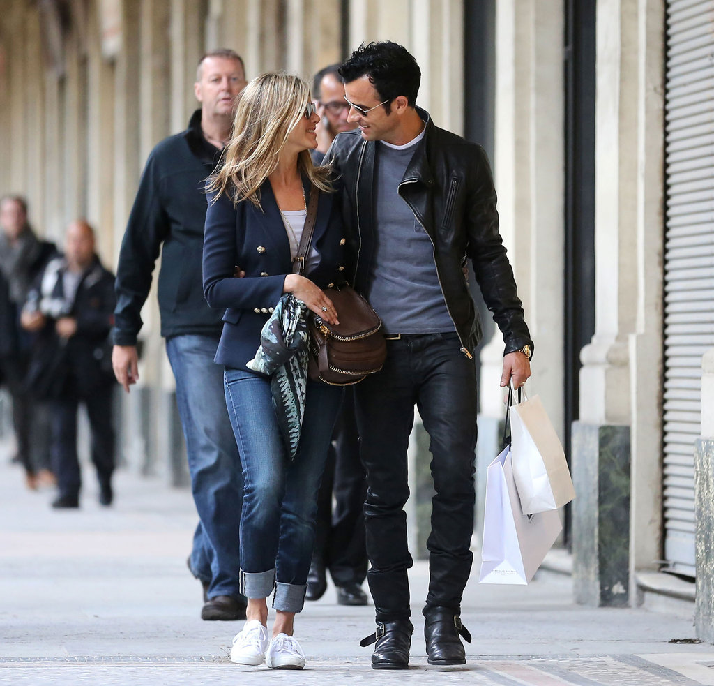In June, Jennifer Aniston and Justin Theroux shared a look of love in Paris.