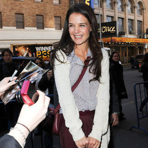 Katie Holmes Greeting Fans Before Her Show | Pictures