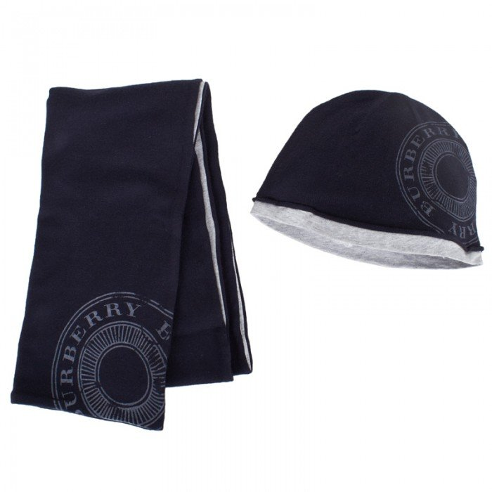 Your little guy will stay warm — and look extra stylish — in this Burberry Navy Hat and Scarf ($190).