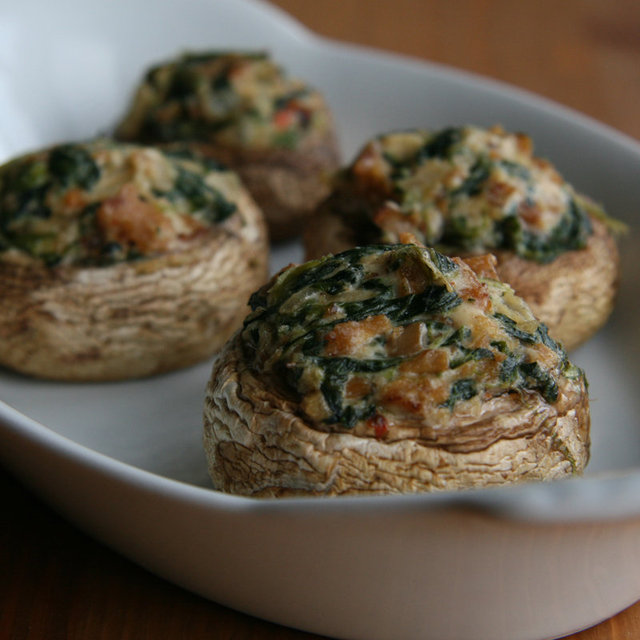Healthy Vegan Stuffed Mushroom Recipe