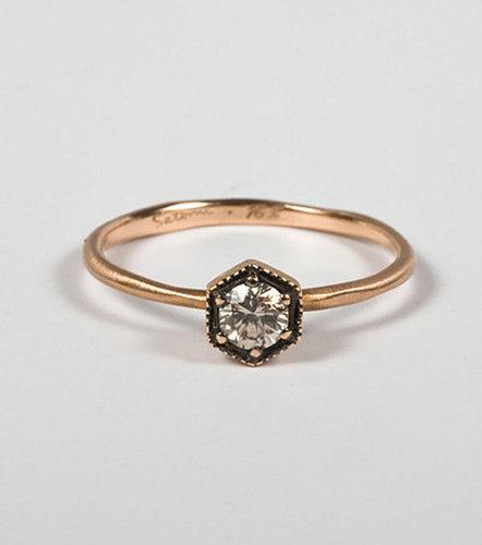 Rose Gold Hexagon Ring