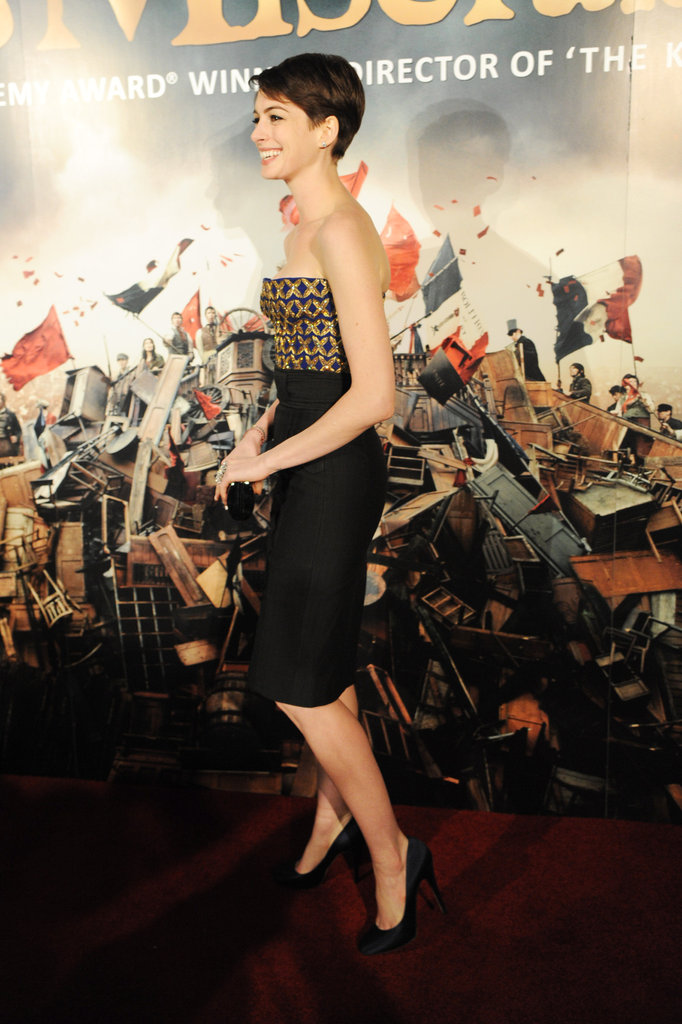 Anne Hathaway Debuts a New Dress For Les Mis's Post-premiere Bash