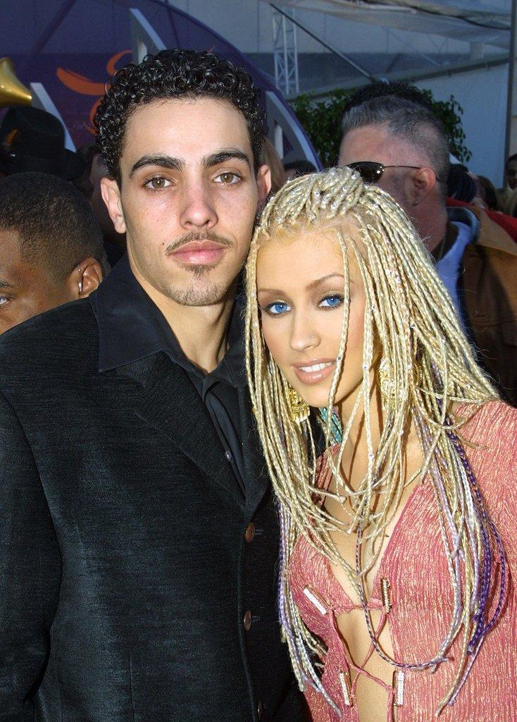 Christina Aguilera and Jorge Santos, 2001