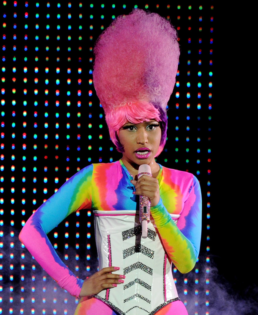 Performing in 2011, Nicki managed to pull off a full-on cotton-candy-esque bouffant.