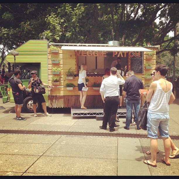 Finally! Food trucks have arrived in Sydney. This one was on Macquaire St in the CBD and it was delish.