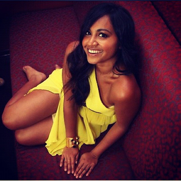Jessica Mauboy posed for the camera — how gorgeous does she look in yellow?! Source: Instagram user jessicamauboy1