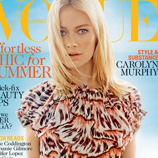 Carolyn Murphy in Vogue Australia January 2013