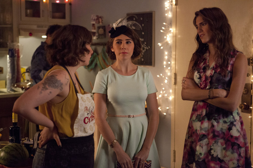 Lena Dunham, Zosia Mamet and Allison Williams in Girls.