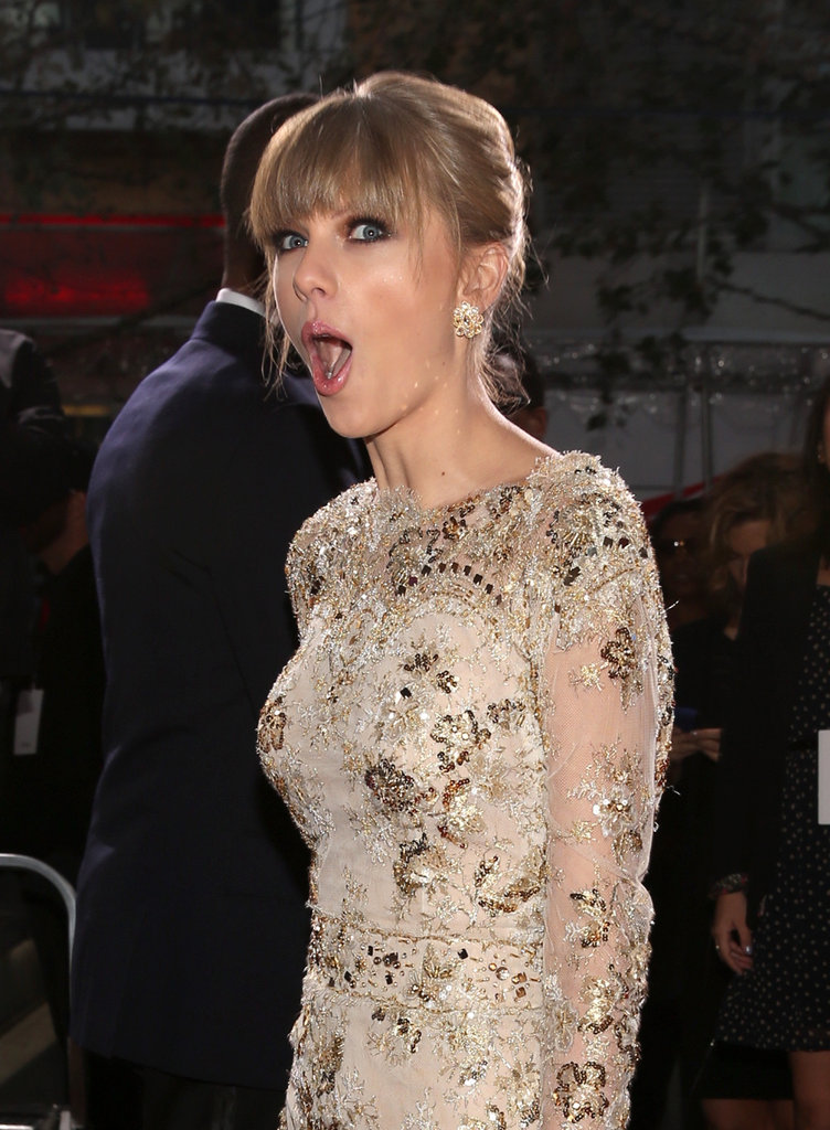 She made a face on the red carpet at the AMAs in November 2012.