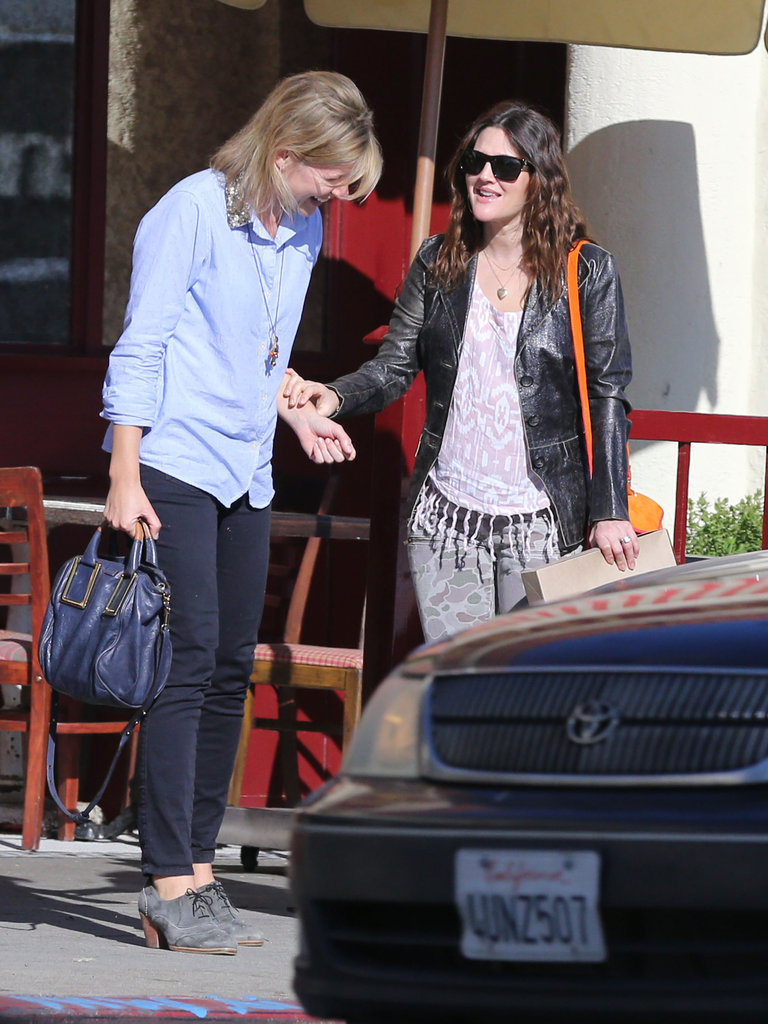 Drew Barrymore's friend had her laughing after a lunch date.