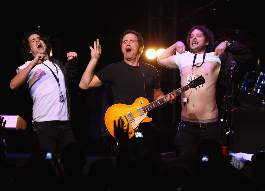 Andy and Hamish got onstage with Frank Stallone (brother of Sylvester) during his Melbourne concert.