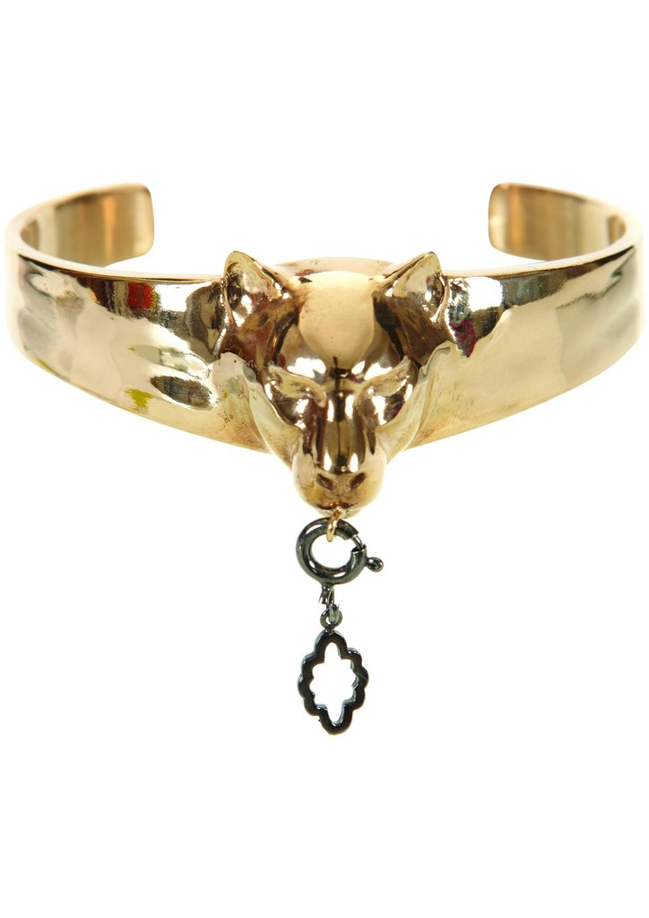 Gold panther cuff, $154, Buy it online.