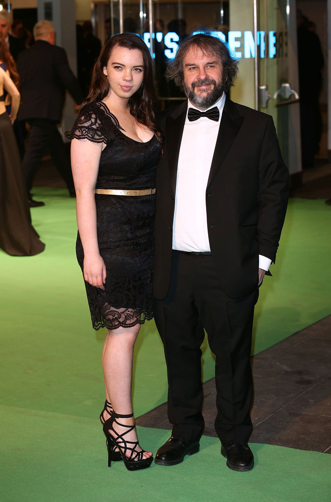 Peter Jackson posed with his daughter Katie Jackson.