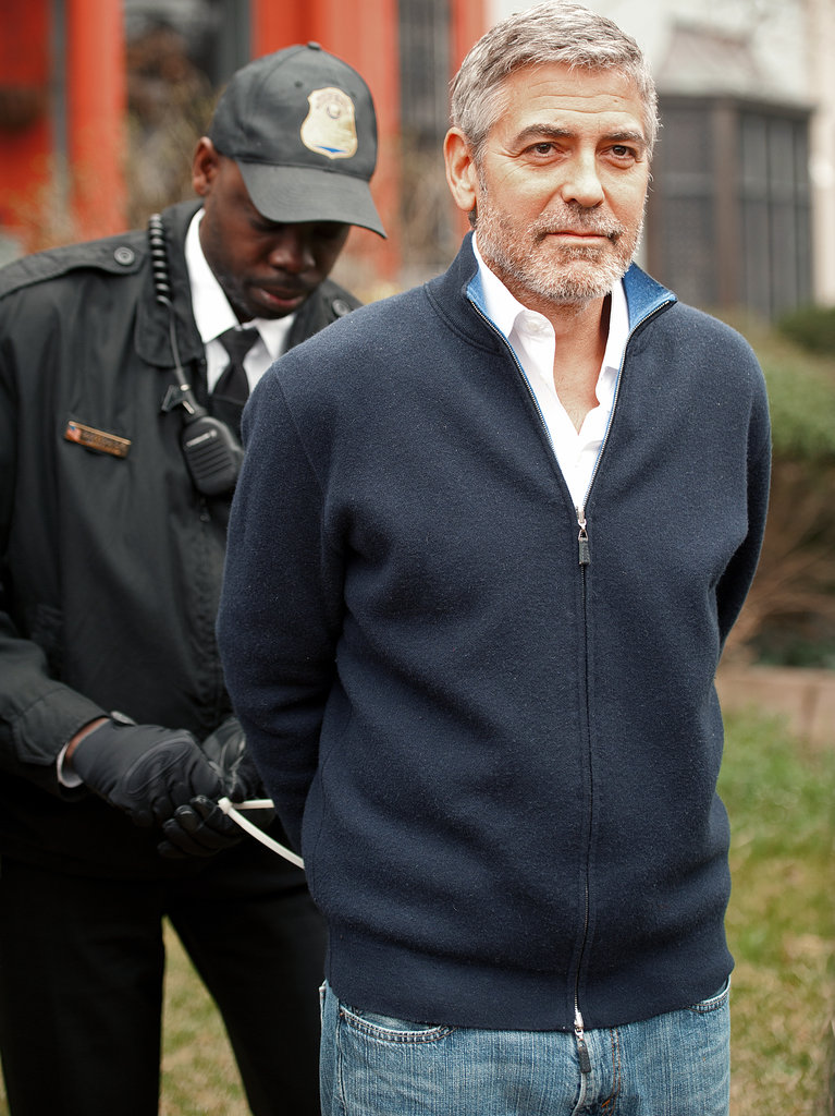 Leave it to George Clooney to look arresting even while being arrested! The actor was hauled in after a March protest at the Sudanese embassy, which he attended alongside his father, journalist Nick Clooney. I've long admired George's commitment to shedding light on the human-rights abuses in Sudan, and for me, this photo sums up his peaceful — yet unmoving — brand of activism. — Lindsay Miller, LA editor