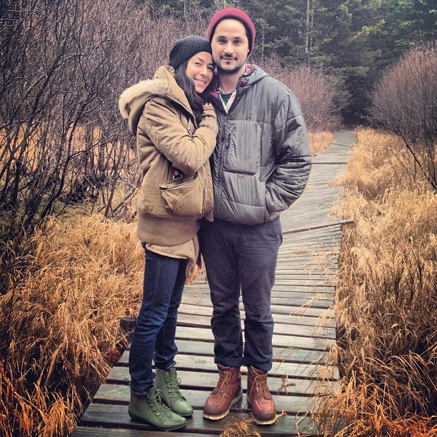 Rebecca Minkoff and her husband, Gavin Bellour, went hiking together. Source: Instagram user rebeccaminkoff