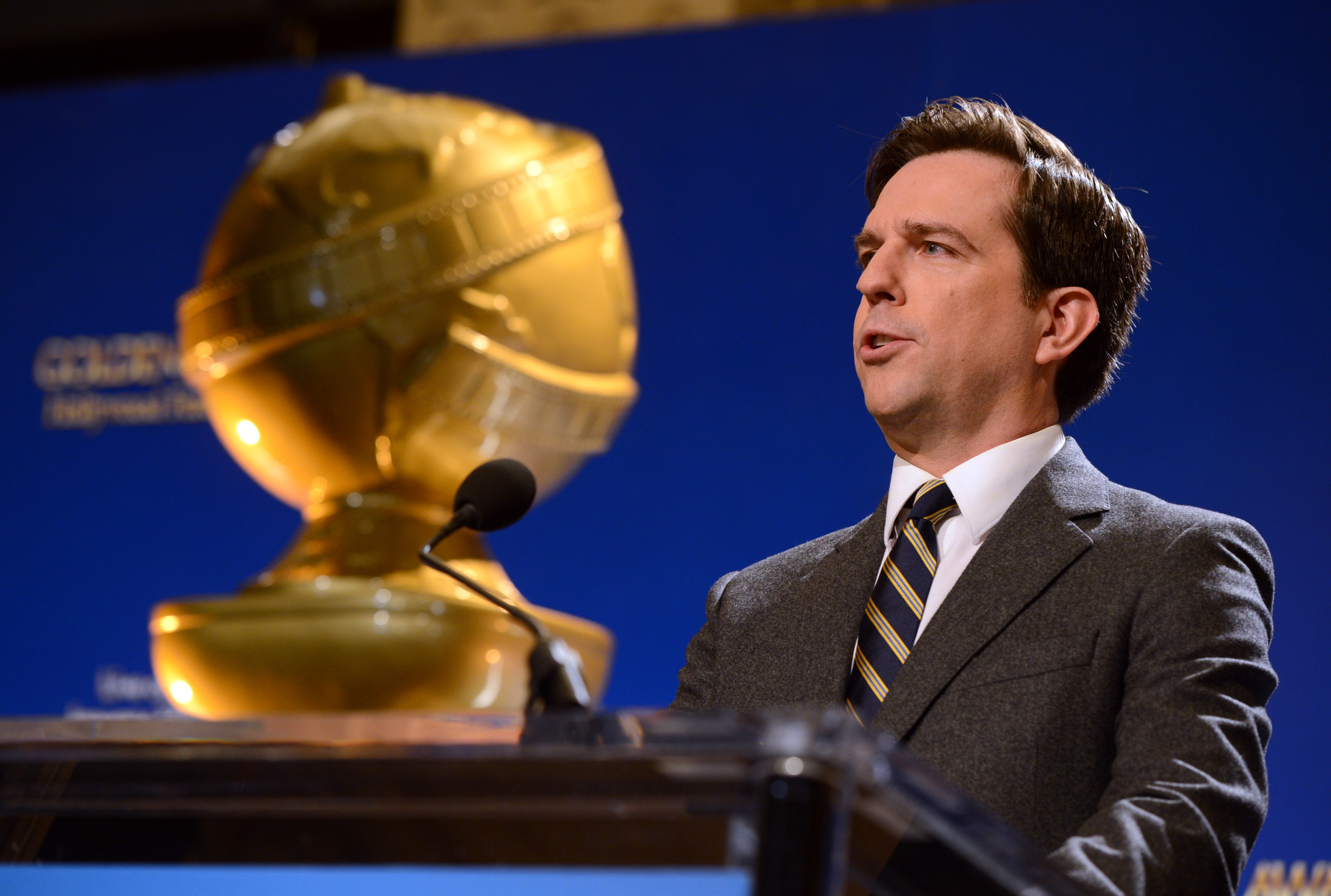 Ed Helms attended the Golden Globe Awards Nominations in LA.