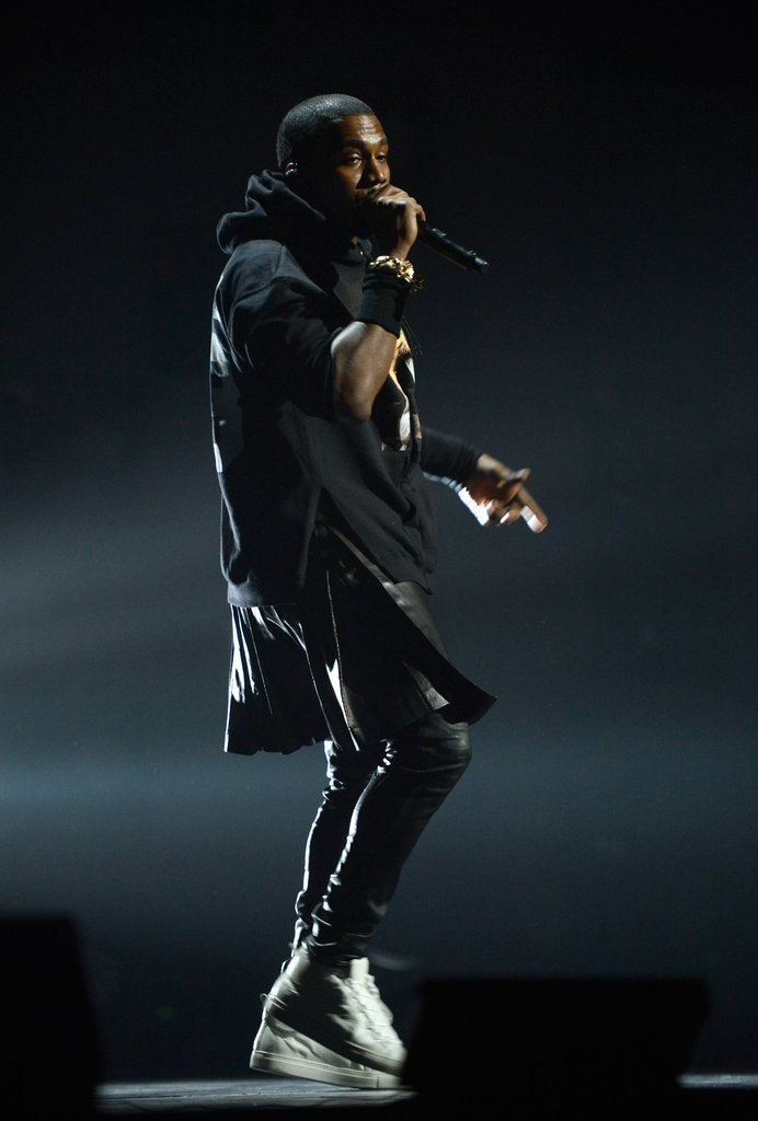 Kanye West performed at the 12/12/12 concert.
