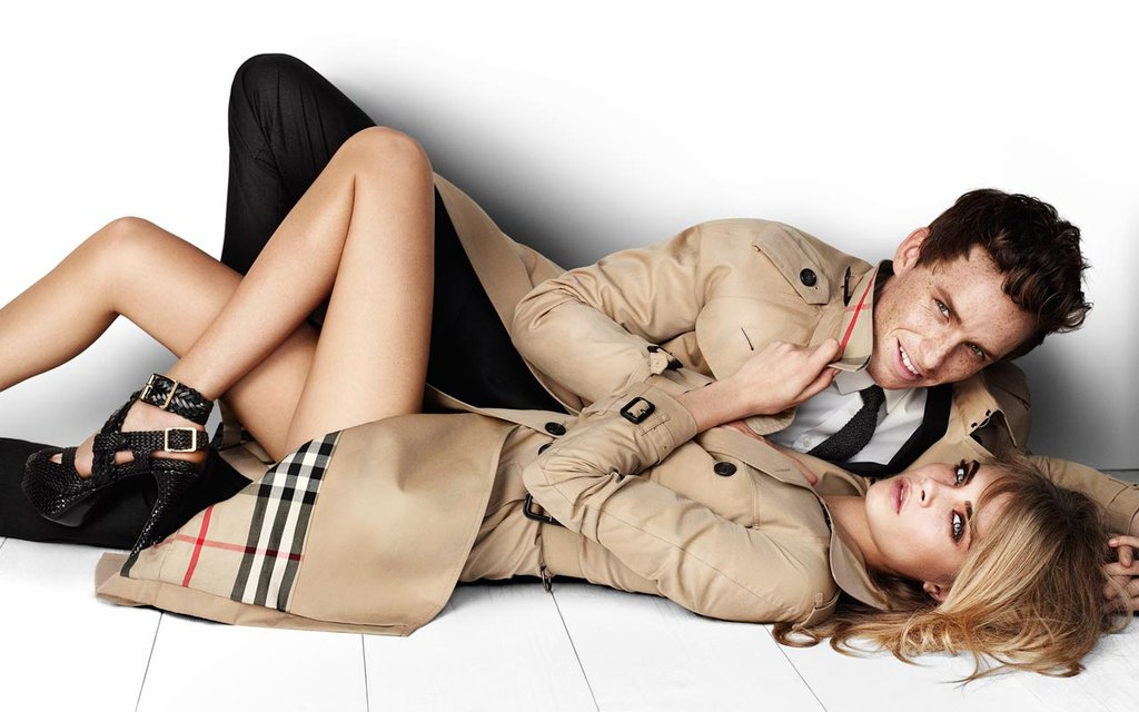 He's a busy man, but somehow Eddie (pictured here with model Cara Delevingne) also finds the time to lend his face to a brand. And not just any brand. . . Eddie's been modelling for iconic British high end label, Burberry, since 2008. Nice work if you can get it! Image courtesy Burberry