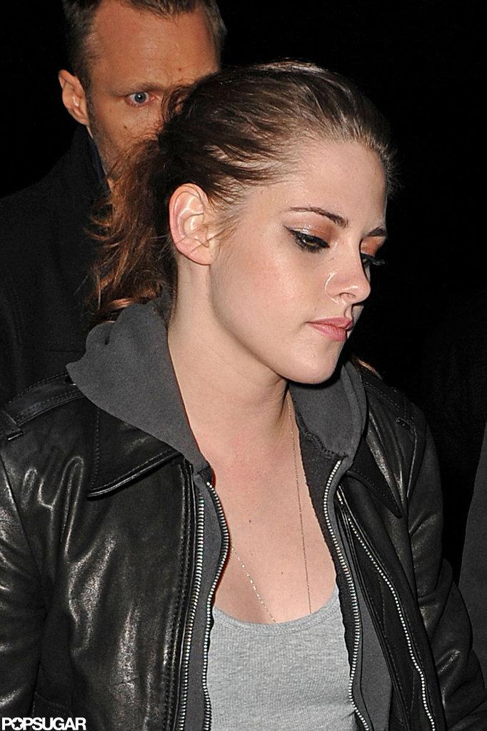 Kristen Stewart grabbed dinner at Abe & Arthur's.