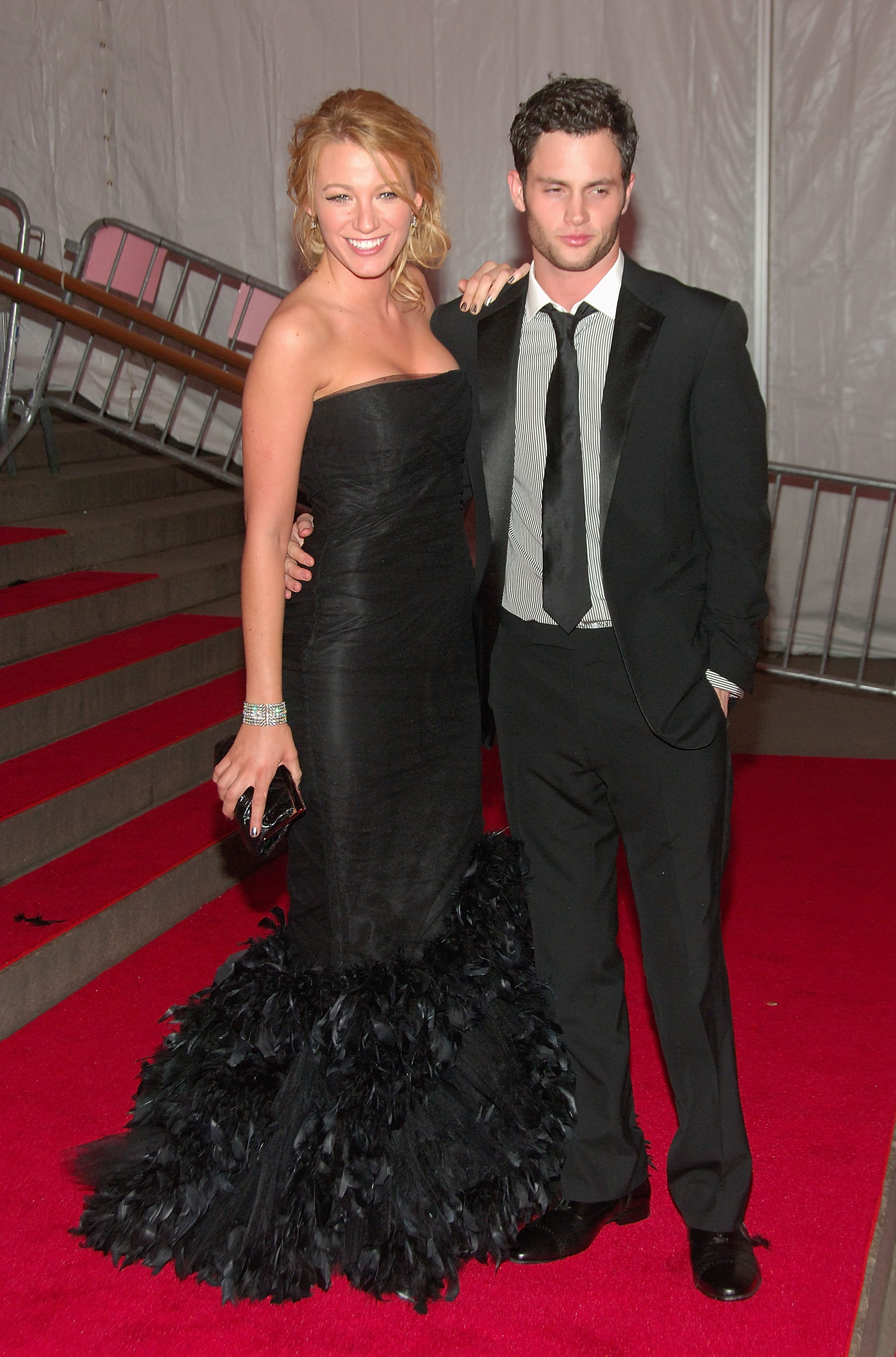 Blake Lively and Penn Badgley stepped out together for NYC's May 2008 Met Gala.