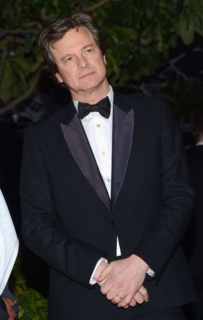 Colin Firth suited up for the charity gala.