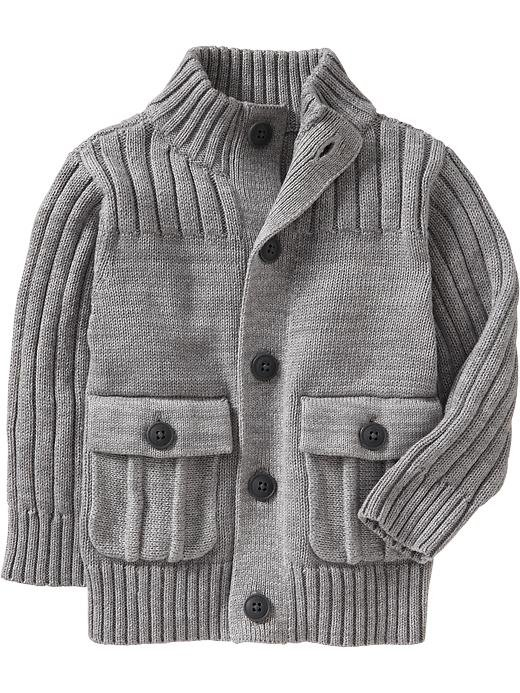 Pair Old Navy's button-front cardigan ($25) with corduroy pants to keep your baby cute and cozy.