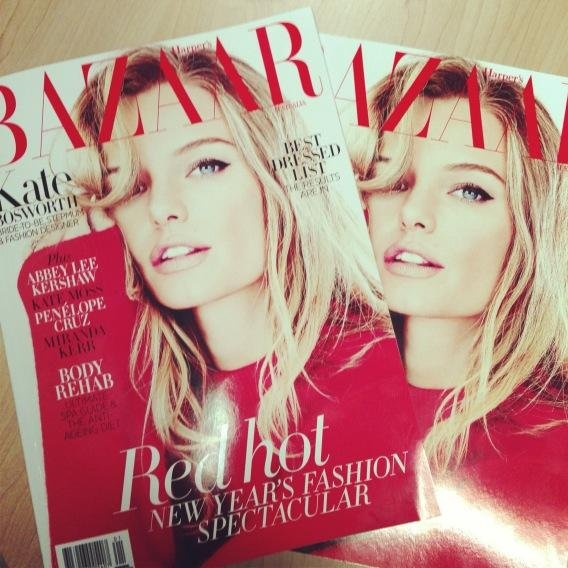 We're loving this stunning Kate Bosworth Harper's Bazaar cover. Source: Twitter user KellieHush