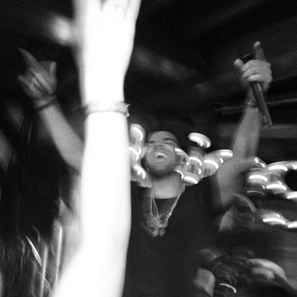 We partied alongside Drake inside the Bing bar at Sundance.