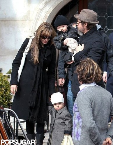 Brad Pitt and Angelina Jolie stepped out in Venice with Knox and Vivienne in March 2010.