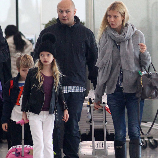 Gwyneth Paltrow at Airport With Apple and Moses | Pictures