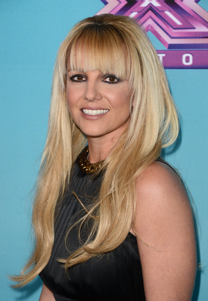 Britney Spears posed for the cameras.