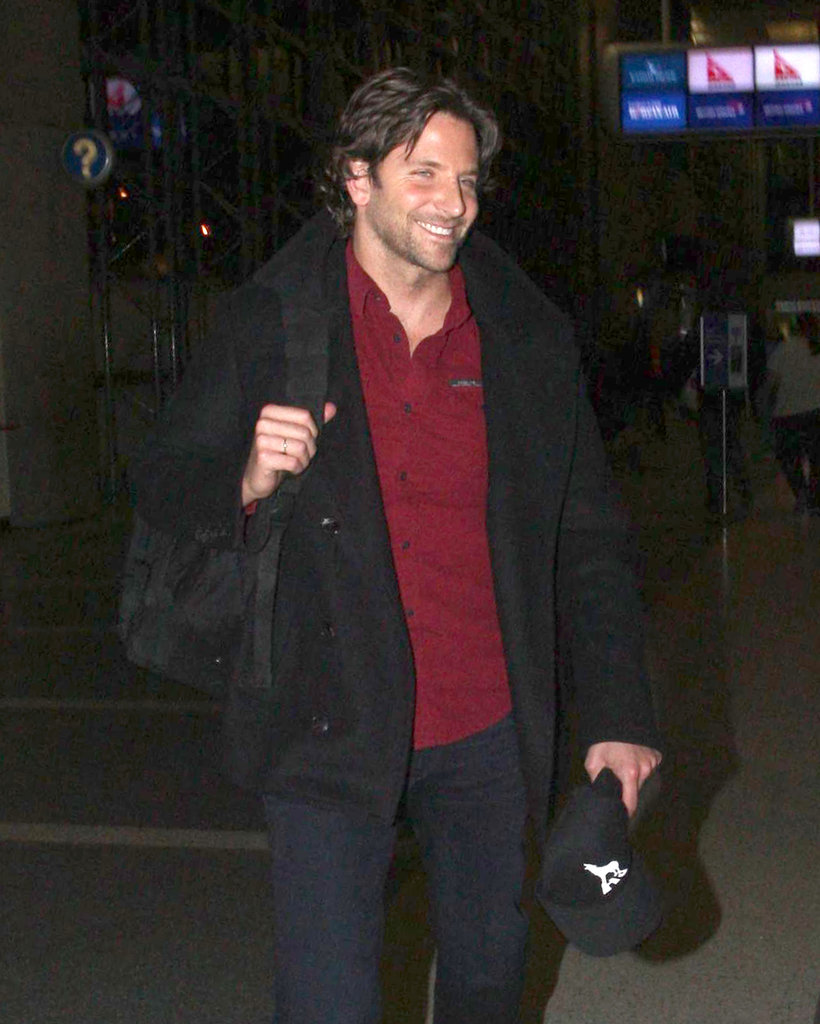 Bradley Cooper smiled at LAX.
