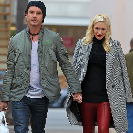 Gwen Stefani Wearing Red Leather Pants