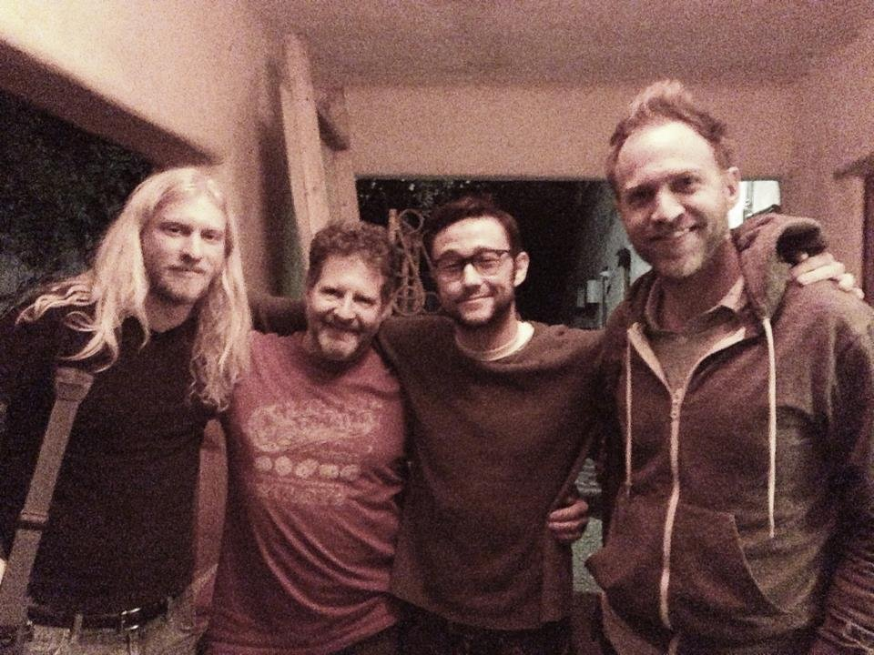 Joseph Gordon-Levitt wrapped up a recording session. Source: Twitter user hitRECordJoe
