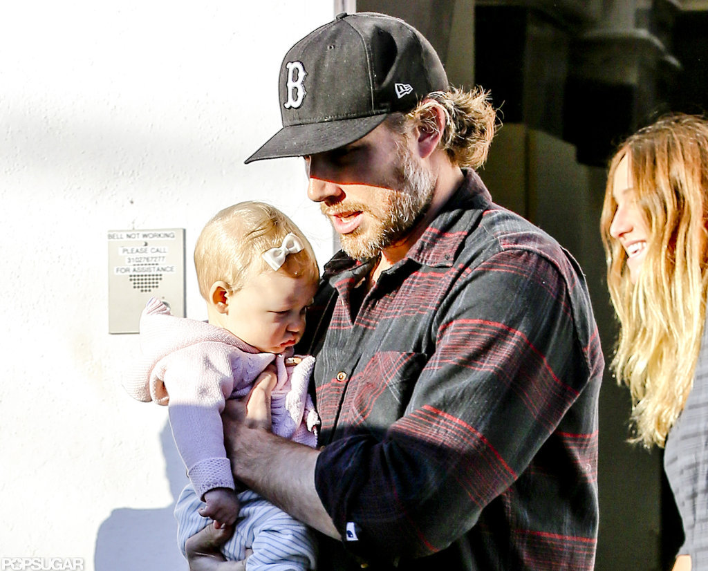 Eric Johnson took daughter Maxwell out shopping.