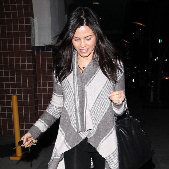 Jenna Dewan Wearing Striped Cardigan