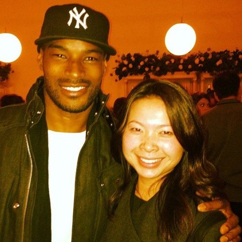 Associate Editor Chi had the swoons while meeting Tyson Beckford this year.