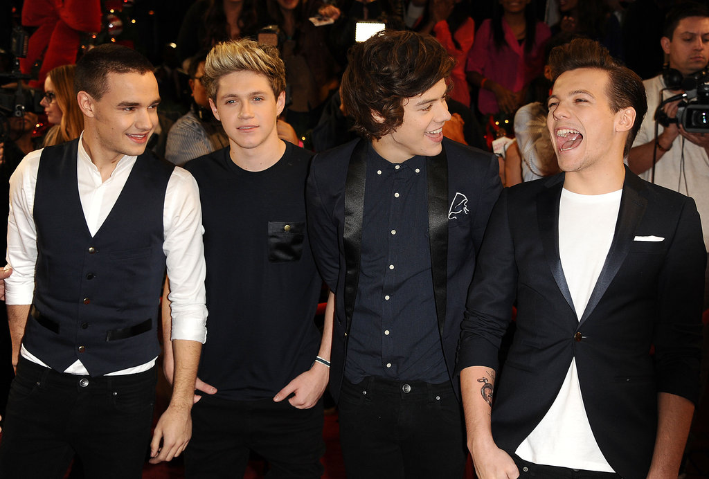 The boys from One Direction laughed it up on the red carpet.