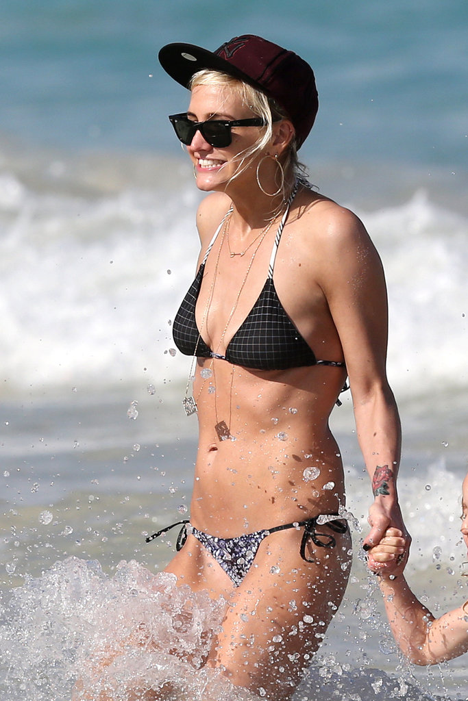 Ashlee Simpson and CaCee Cobb Sport Bikinis With Their Main Men