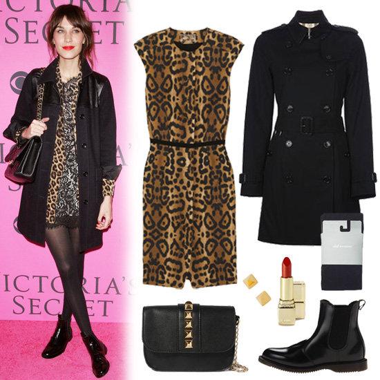 Alexa Chung Leopard Dress Outfit Inspiration