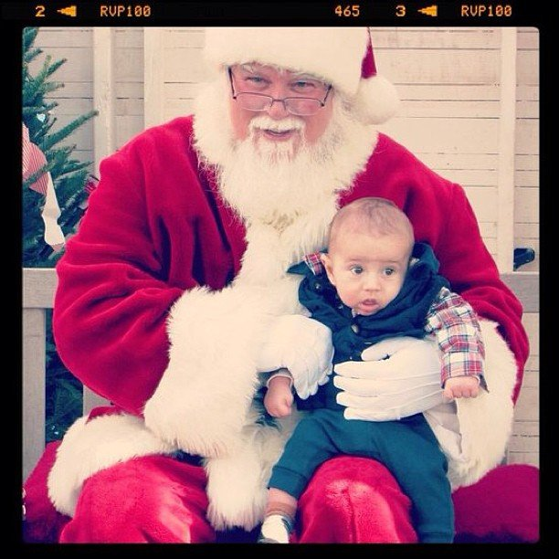 """5-month-old Baby Brooks's visit to Santa — a perfect kickoff to his first Christmas!"" Source: Instagram user lilsugar1"