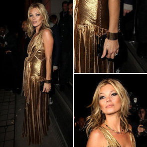 New Year's Eve Outfit Inspiration: Kate Moss Gold Gown