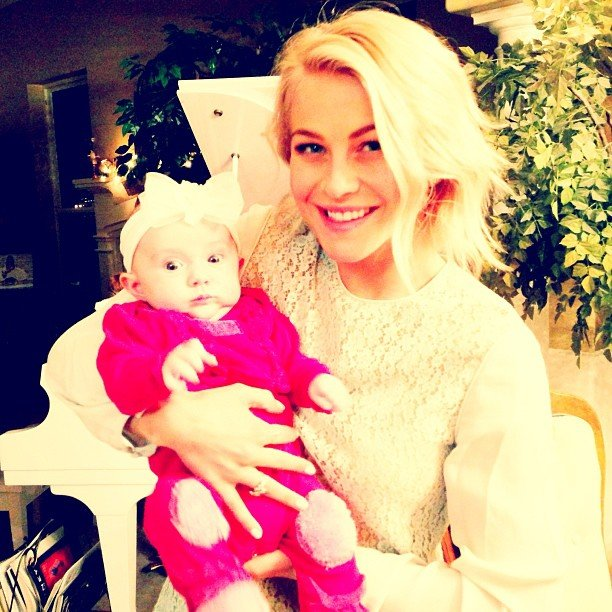 Julianne Hough posed with a baby. Source: Instagram user juleshough