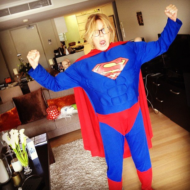 Charlotte Dawson is considering a Superman outfit for NYE. Source: Instagram user mscharlotted